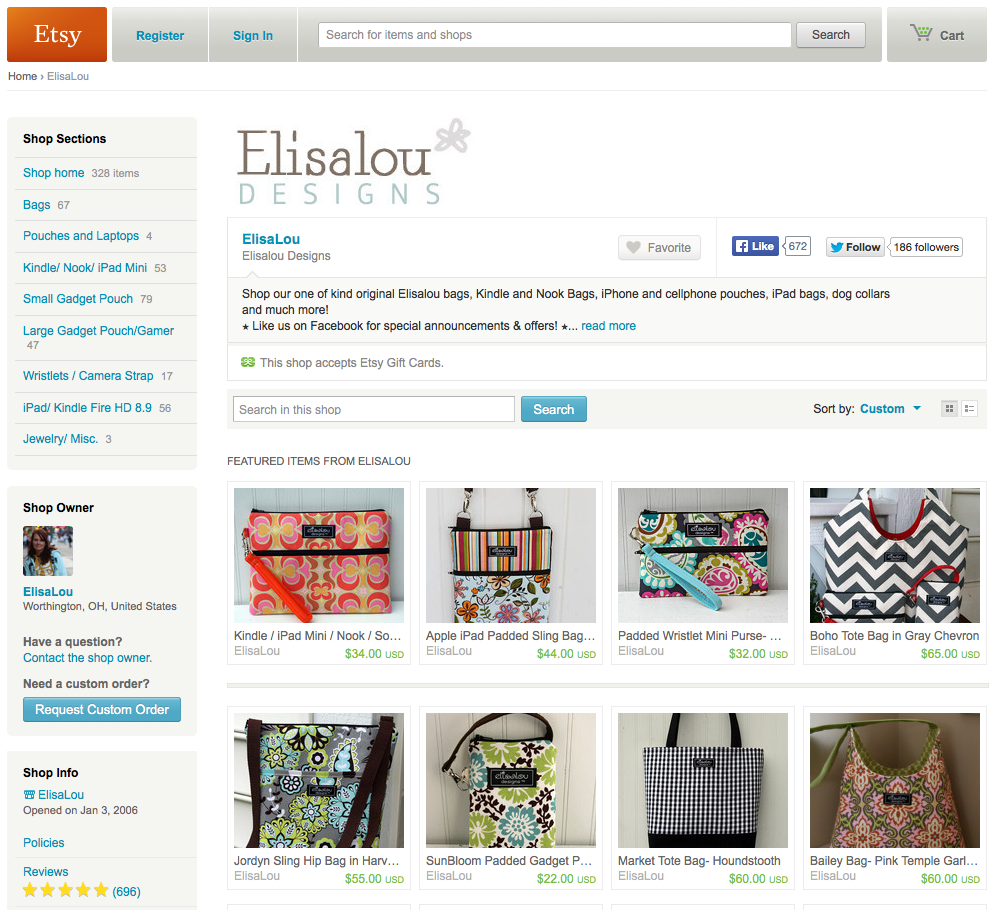 Elisalou Designs at Etsy
